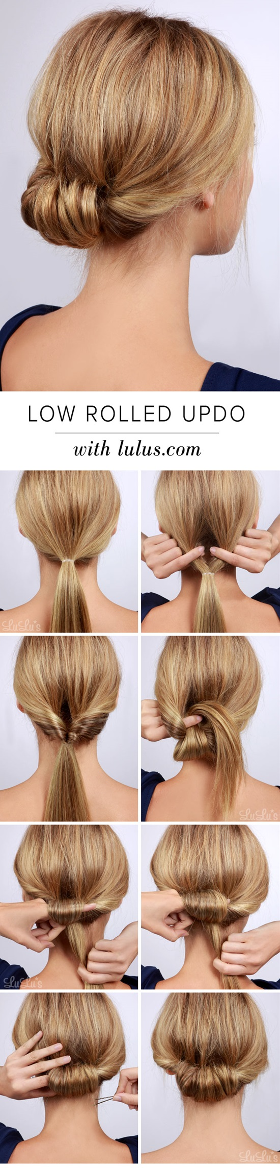 Bun Tutorial For Fine Hair Low Chignon Hairstyle